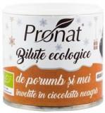Bilute de Porumb si Mei Trase in Ciocolata Neagra Bio 80gr Pronat Cod: PRN6125