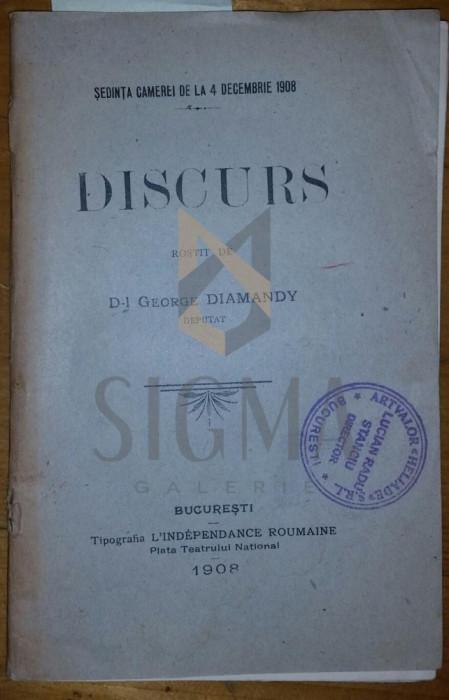 George DIAMANDY ( deputat ) - DISCURS rostit in sedinat 4 decembrie 1908