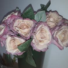 Buchet flori artificiale - ANTIQUE ROSES  5 fire SOMON ROZ PAL H 25  cm