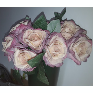 Buchet flori artificiale - ANTIQUE ROSES  5 fire SOMON ROZ PAL H 25  cm