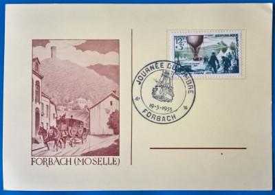 FRANTA=1955-''Ziua Timbrului''- cu stampila speciala FDC- Mi=15e foto