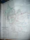 Harta mare a judetului BUZAU 1986 , dim.= 127x145cm RSR Inst. Geodezie si Org.