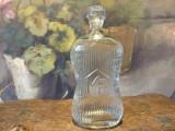 Sticla veche interbelica Marginea Resita cu scris in relief / de colectie !