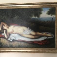Nud in mijlocul naturii - Dave Wood, Ulei, Art Deco