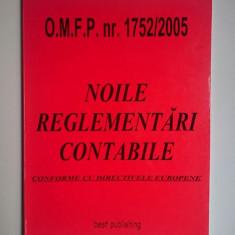 Noile reglementari contabile conforme cu directivele europene O.M.F.P. 1752/2005