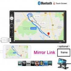 Mp5 player Casetofon Mp3 auto 2 DIN Navigatie Universala prin MirrorLink 7 inch
