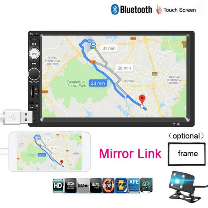Mp5 player Casetofon Mp3 auto 2 DIN Navigatie Universala prin MirrorLink 7 inch