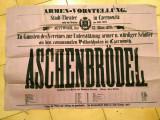 Bucovina_Cernăuți_poster teatru_Stadt Theater_Josef Dietz_ASCHENBRODEL_1879