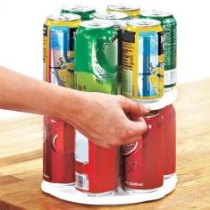 Suport rotativ pentru doze bauturi si conserve