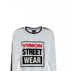 Bluza Vision Street Wear Batwing Gri /Negru