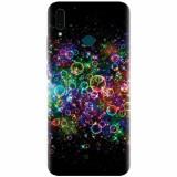 Husa silicon pentru Huawei Y9 2019, Rainbow Colored Soap Bubbles