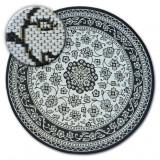 Covor rotund sisal Flat 48691/690 Vitraliu, cerc 120 cm