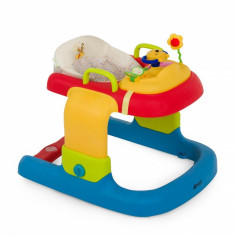 Premergator 2 in 1 Walker Stripe Pooh Ready to Play, reglabil pe inaltime, opritor incorporat