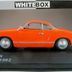 Macheta VW Karmann Ghia Coupé - 1962  - WHITE BOX scara 1:43
