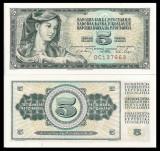 = IUGOSLAVIA - 5 DINARA – 1968 – UNC   =