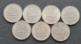 H604 Norvegia 1 coroana 1974 1975 1976 1978 1981 1983 1991, Europa