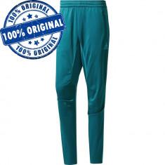 Pantalon Adidas Real Madrid pentru barbati - pantaloni originali - conici, Albastru, Lungi, Poliester