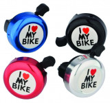 Sonerie I Love My Bike Aluminiu/Plastic Diametru 52mm MulticolorPB Cod:MXBAC0603