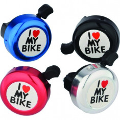 Sonerie I Love My Bike Aluminiu/Plastic Diametru 52mm MulticolorPB Cod:MXBAC0603