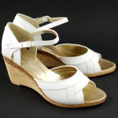 Sandale dama cu platforma din piele naturala S105A