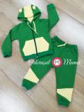 Trening bumbac bebelusi verde-galben