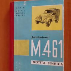AUTOTURISMUL M 461 ,NOTITA TEHNICA ,AN 1965 ,PAGINI 124 ,STARE FOARTE BUNA