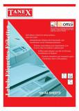 Top 100 bucati etichete autoadezive albe tanex dimensiuni 14/a4(105x41mm)