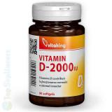 Vitamina D3-2000 90cps. (imunitate, oase, muschi) Vitaking