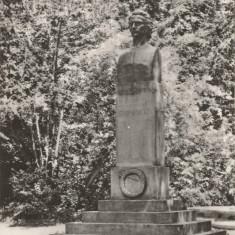 Romania, Sibiu, Statuia lui Mihai Eminescu, carte postala ilustrata, necirculata