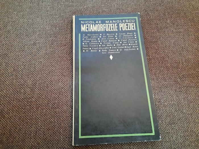 NICOLAE MANOLESCU - METAMORFOZELE POEZIEI P3