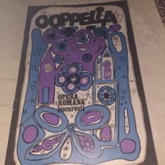"""PROGRAM OPERA ROMANA BUCURESTI 1976 SPECTACOL """"COPPELIA"""""""