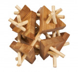 Joc logic IQ din lemn bambus Stickstriangles