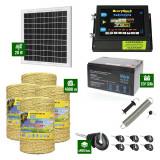 Pachet Gard electric 6,6j putere cu Panou Solar si 4000m de fir 160Kg