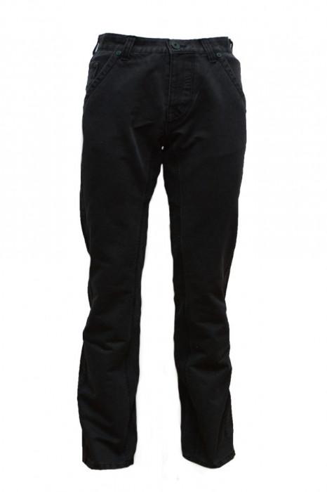 Pantalon barbatesc de blug,model simplu,nuanta bleumarin