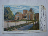 Carte postala circulata la Orsova in anul 1899 - Casa de baie, Budapesta, Ungaria, Printata