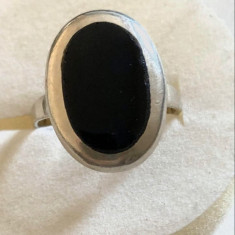Inel Argint cu Onix masura mare 20 mm