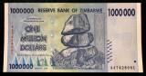 ZIMBABWE 1 million milion $ 1.000.000 Dollars 2008 aUNC / UNC**