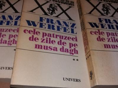 FRANZ WERFEL - CELE 40 ZILE DE PE MUSA DAGH - 3 VOL - EDITIE 1970 TD foto