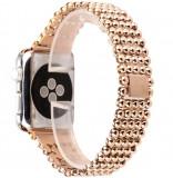 Cumpara ieftin Curea pentru Apple Watch Rose Gold Luxury iUni 44 mm Otel Inoxidabil