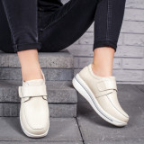 Pantofi Piele dama casual bej Alassy