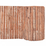 Gard din scoarță de copac, 1000 x 50 cm, vidaXL