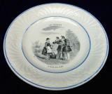 Portelan de colectie aprox. 1850 Creil et Montereau , marcaj complet, Farfurii