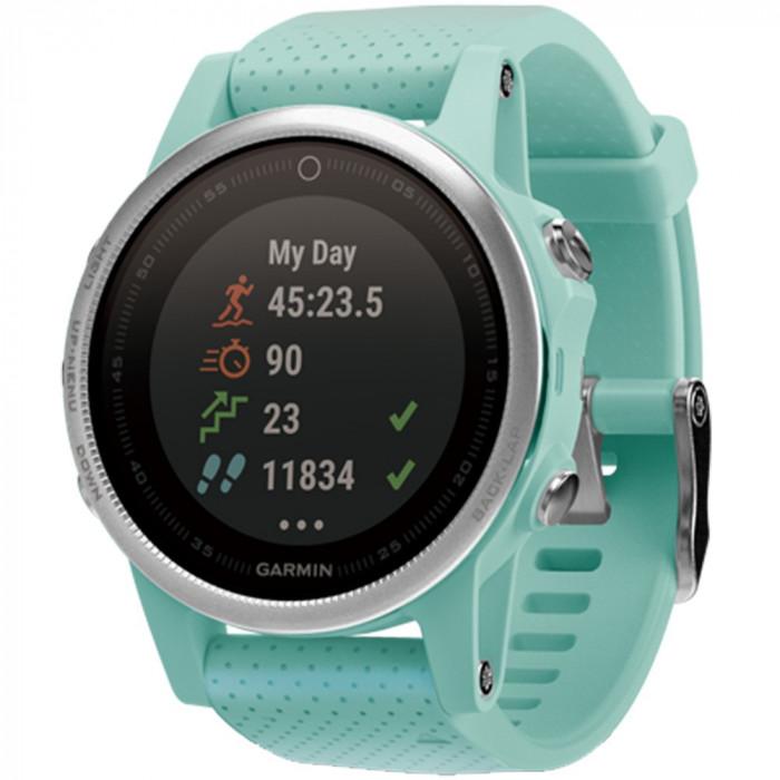 Smartwatch Fenix 5S Sapphire Edition Frost Albastru