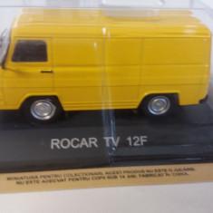 macheta rocar tv-12f deagostini masini de legenda romania - 1/43, noua.