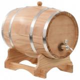 Butoi de vin cu robinet, 12 L, lemn masiv de pin, vidaXL