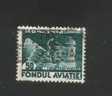 No(08)timbre-Romania  FONDUL AVIATIEI-perfin