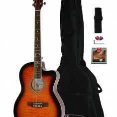 Chitara electro acustica Western Santander WS 55 sunburst 4EQ acordor integrat
