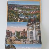 Carnet 9 carti postale Bucuresti - ani '20 - stare impecabila, Necirculata, Printata