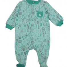 Salopeta / Pijama bebe cu ursuleti Z52, 1-2 ani, 1-3 luni, 12-18 luni, 3-6 luni, 6-9 luni, 9-12 luni, Verde