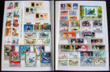 Clasor 326 timbre straine nestampilate + 13 colite + 6 blocuri, serii MNH